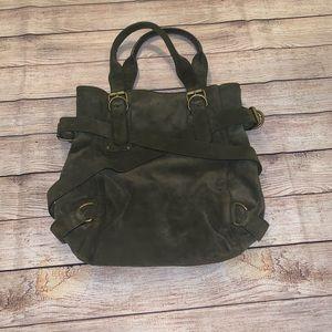 Olive/army green suede Kooba bag